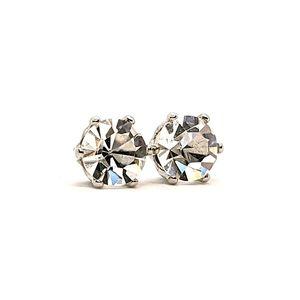♠️+  Swarovski®Crystal Solitaire Stud Earrings